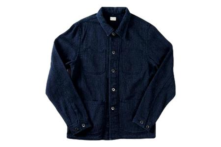 Japan Blue Sashiko Coverall Jacket - Indigo