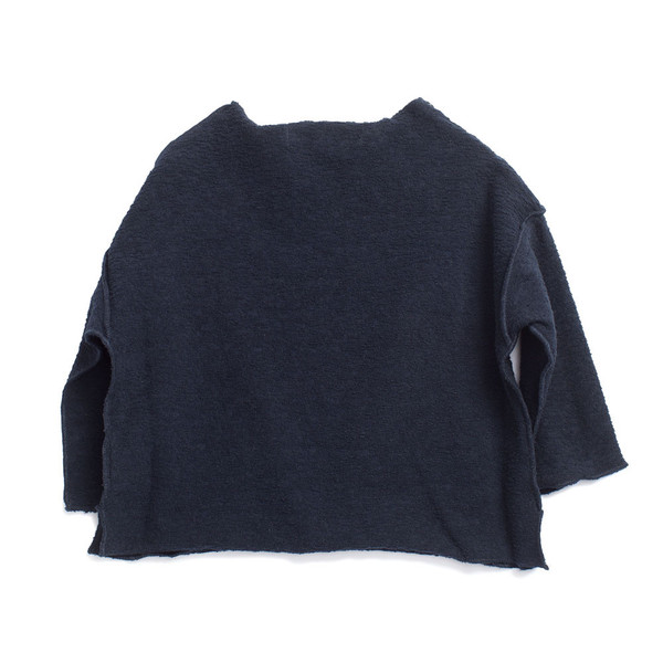 Caramel Baby & Child Cumin Baby Top Navy Fleece