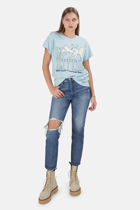 MadeWorn Rock Led Zeppelin '77 Tour T-Shirt - Blue Haze