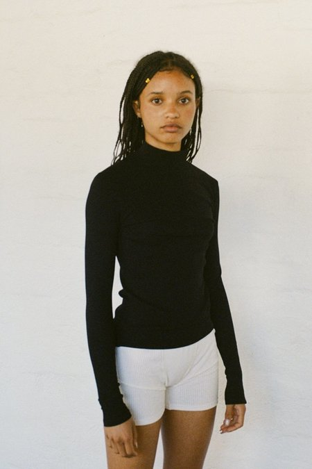 SISTER Laura Cotton Rib Skivvy - Black