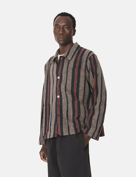 YMC Cubist Stripe Jacket - Grey