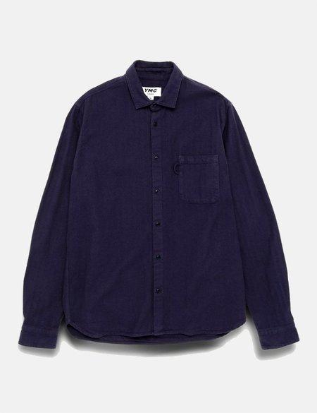 YMC Curtis Shirt - Navy Blue