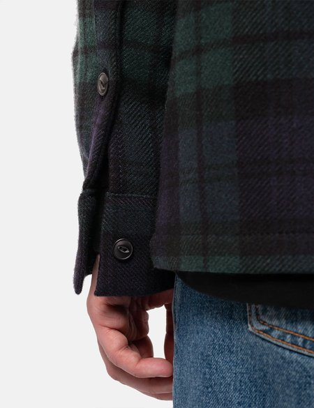 Nudie Jeans Nudie Sten Blackwatch Wool Multi Check Shirt - Green