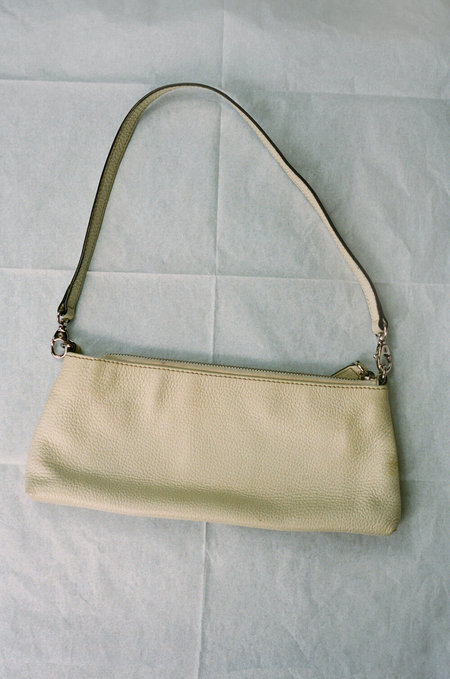 vintage HUMAN SEA VINTAGE X JOAN  Leather Shoulder Bag - Cream
