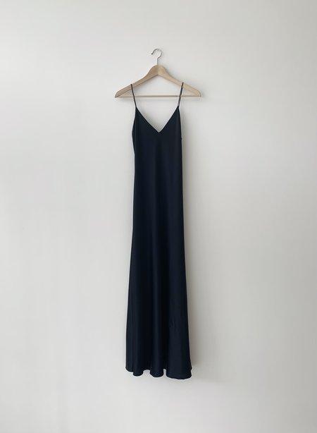 Kamperett Caroline Silk Slip Dress - Black