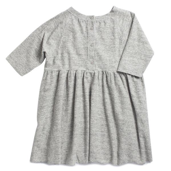Caramel Baby & Child Kawakawa Dress Grey Fleece
