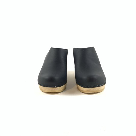 The Mix Shoes & Accessories No. 6 New School Clog on Wedge - Black