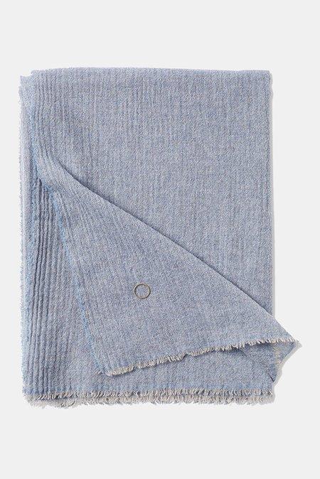 Oyuna Esra Finely Woven Light Cashmere Throw - Sky Blue