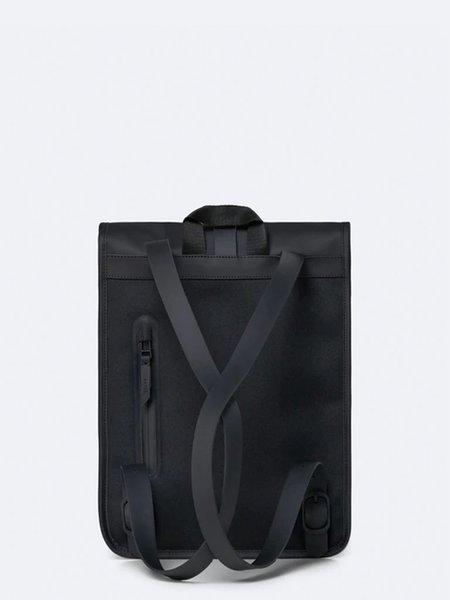 Unisex Rains Roll Top Mini - Black