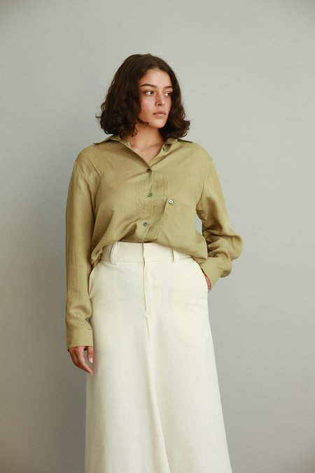 JOWA. Are you Button Detail Midi Skirt - Ivory