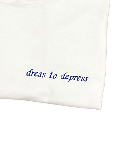 unisex  house of 950  dress to depress embroidery tee shirt
