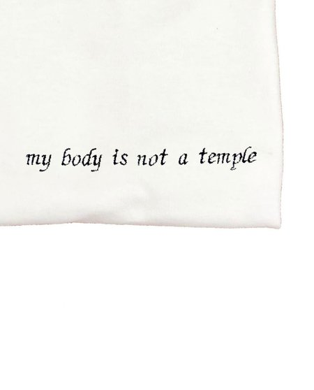 unisex house of 950 my body is not a temple embroidery tee shirt