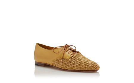 Manolo Blahnik Napa Leather Lace Up Shoes