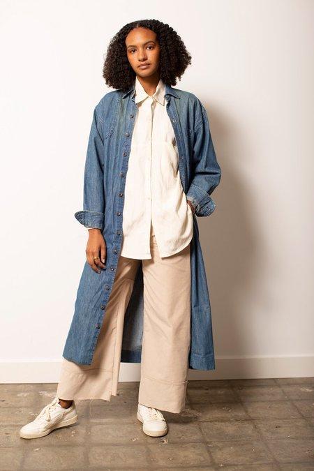 Preservation Vintage Medium Chambray Dress - Blue