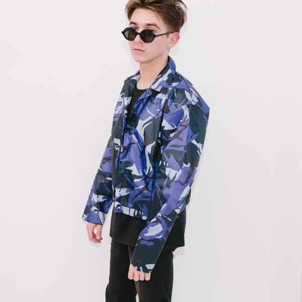 Haik W/ Wind Breaker Short Jacket, Blue Camo
