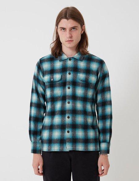 Universal Works Utility Long Sleeve Plaid Shirt - Turquoise Check