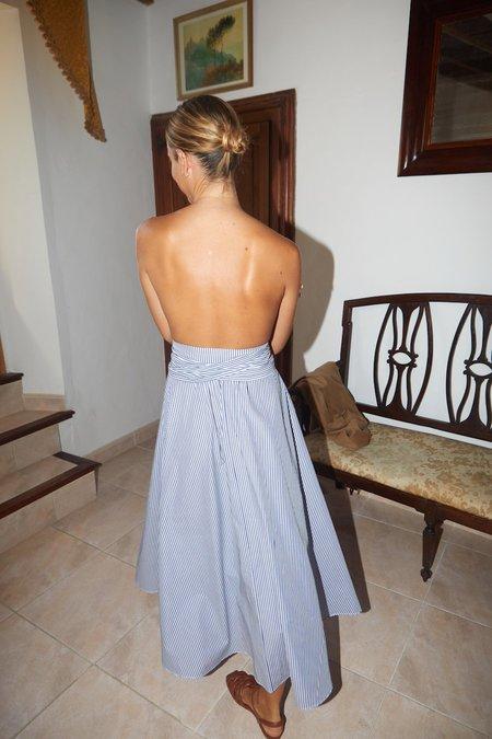 Datura Striped Cotton Alma Skirt - Classic Navy/White Stripes
