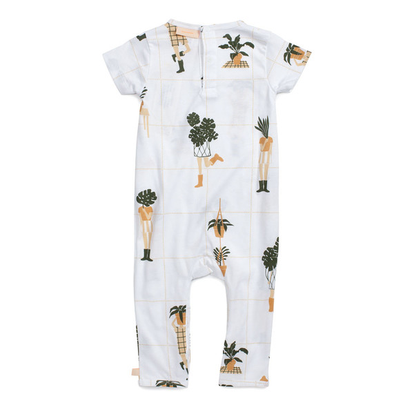 Tiny Cottons Short Sleeve One-Piece Crazy Garden