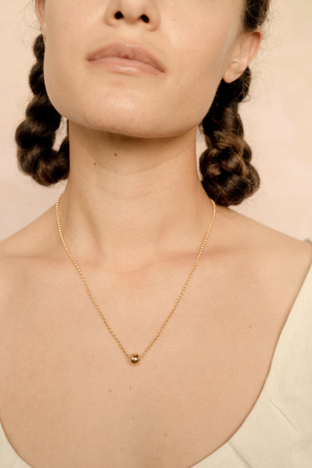 Eyde iris Necklace - 14k gold fill / brass
