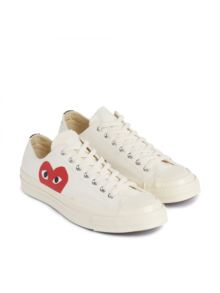 Unisex Play Comme Des Garçons x Converse Chuck Taylor All Star '70 Low Sneakers - White