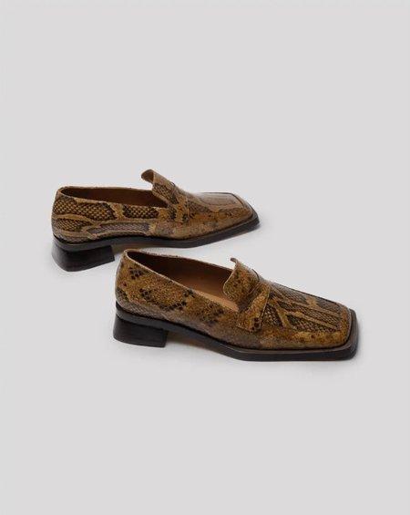 Miista Crimson Loafer - Sandstone Snake Leather