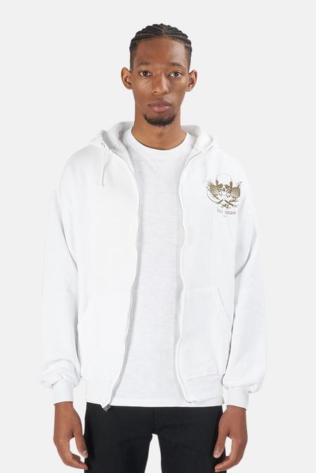 Blue&Cream Skull Hoodie Sweater - White/gold