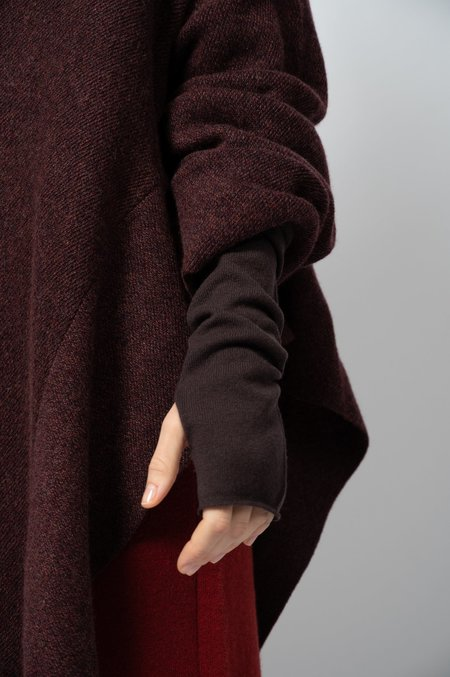 Oyuna Knitted Wool and Cashmere Arm Warmers - Star Wine