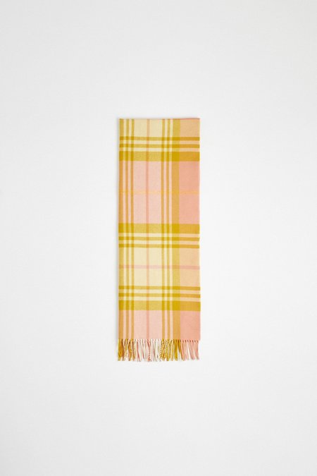 Unisex A Kind Of Guise Ferrara Scarf - Salmon Check