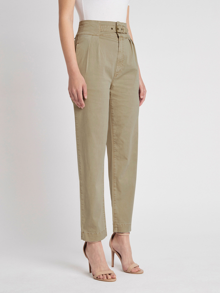 Mother Denim The Buckled Up Huffy Flood Trouser - Sand Beige