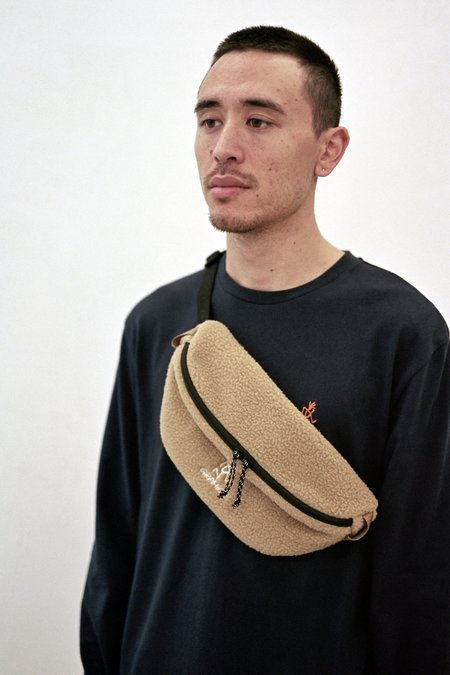 Gramicci Boa Fleece Body Bag - Beige