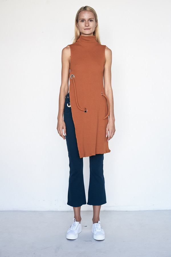 Faustine Steinmetz Cotton Sleeveless Rib Dress