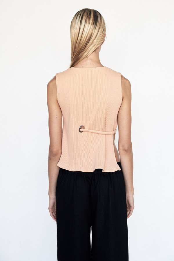 Faustine Steinmetz Cotton Sleeveless Rib Top
