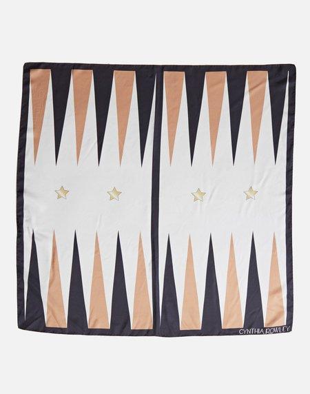 Cynthia Rowley Backgammon Silk Scarf - BLKBR