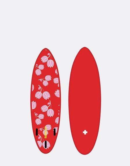 Cynthia Rowley Custom Short Surfboard - red