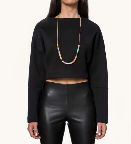 JULIE THÉVENOT Chunky half Isiand necklace - multi