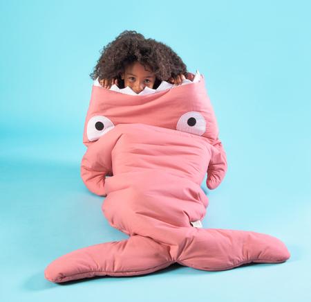 Baby Bites Big Kids Sleeping Bag in Pink - Coucou Boston