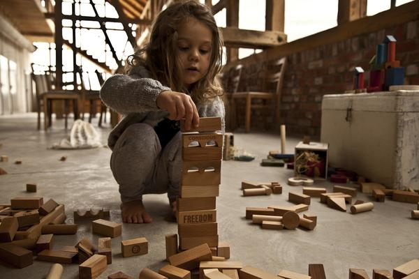 Wooden Story XL Natural Blocks - Coucou Boston