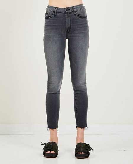 Mother Denim High Waisted Looker Ankle Fray Jeans - Lighting Up Lanterns