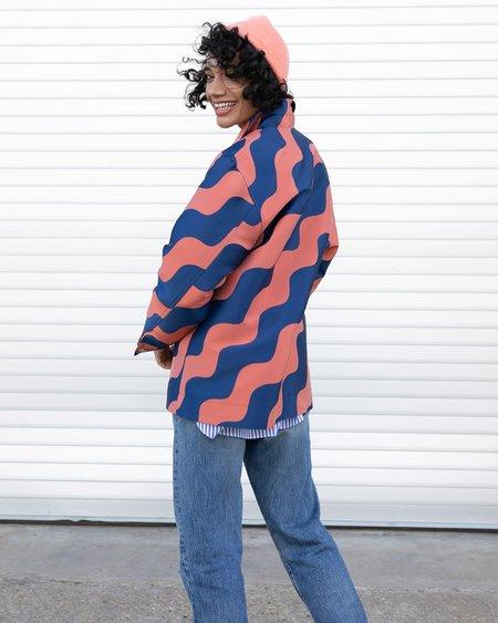 Nomia Wave Jacquard Jacket - RUST/MIDNIGHT