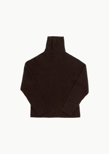 AMOMENTO whole garment rib turtleneck