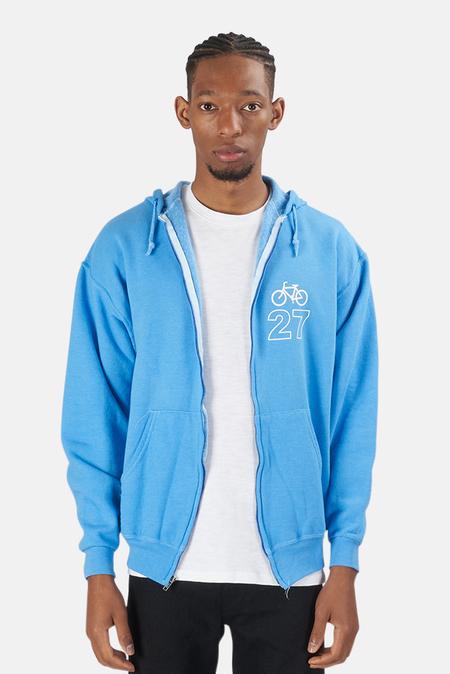 Blue&Cream Bicycle 27 Hoodie Sweater - Sky Blue