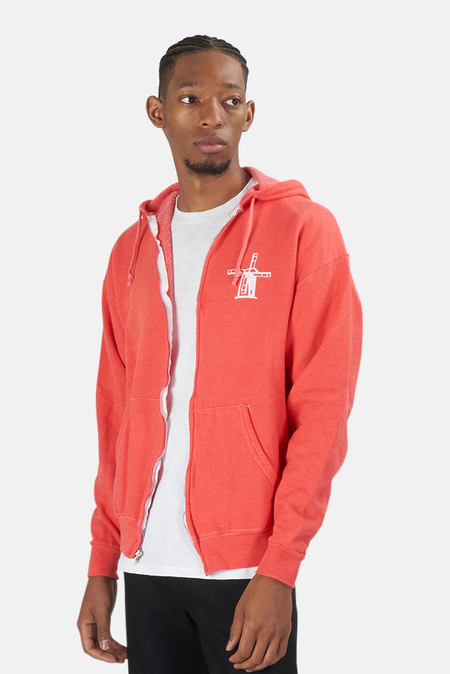Blue&Cream Been Here Forever Hoodie Sweater - Red