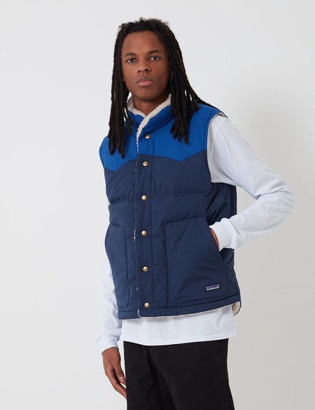 Patagonia Reversible Bivy Down Vest - Navy Blue