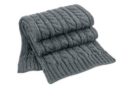 Milworks Cable Knit Melange Scarf - Grey