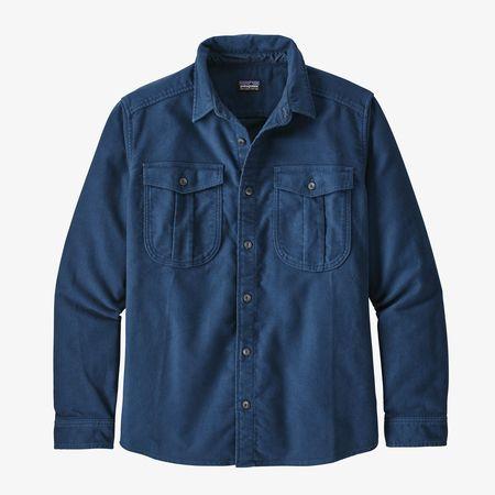 Patagonia Long-Sleeved Topo Canyon Moleskin Shirt - Stone Blue
