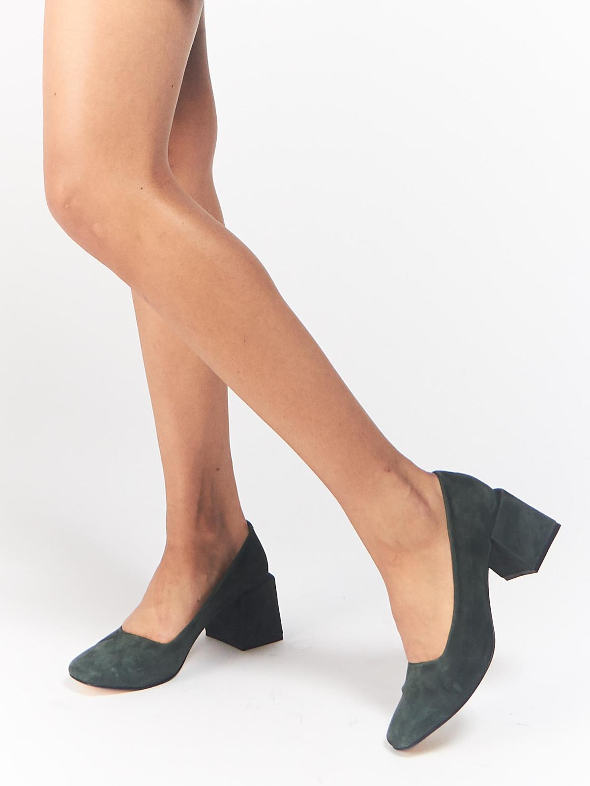 LOQ Women's Villa Suede Block Heel Pumps Sale Best Store To Get O1H0rWPzu
