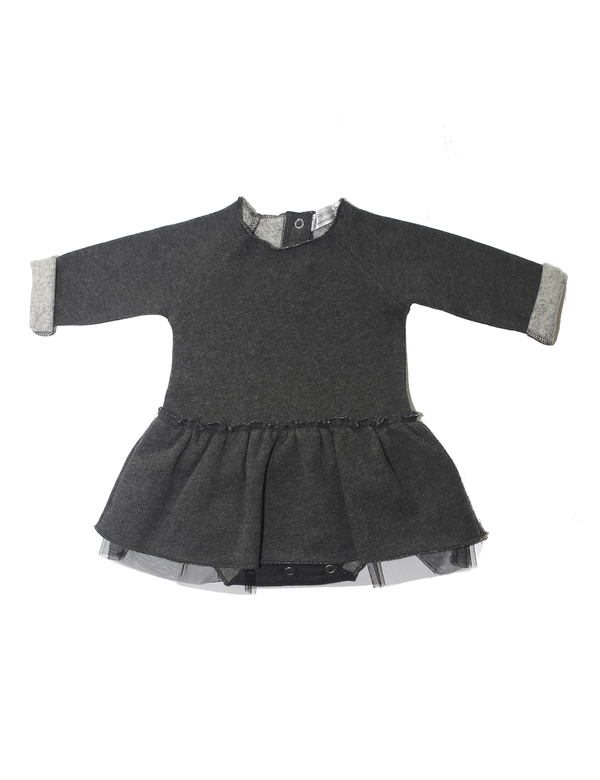 Les Petites Choses Charcoal Lora Dress with Tulle - Coucou Boston
