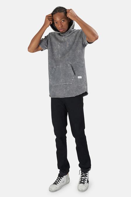 Blue&Cream x Kinetix Hampton Nights Short Sleeve Hoodie Sweater - Grey Mineral