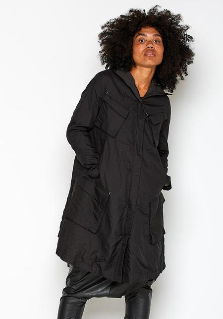 Hooded Parka Coat - black