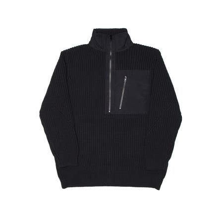 Y-3 Half Zip Sweater - Black